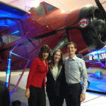 Stephanie with Alaska's Rick Bendix and Kathy Denker at the Alaska Aviation Museum.